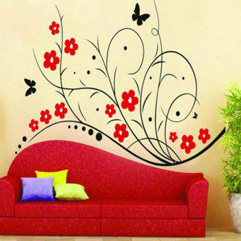 High Quality Lovely Flower Pattern Removeable Wall Stickers