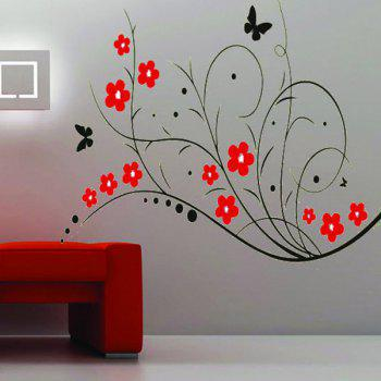 High Quality Lovely Flower Pattern Removeable Wall Stickers - COLORMIX