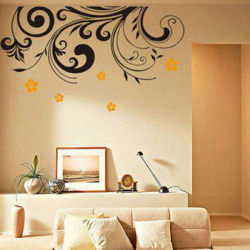 High Quality Blossom Pattern Removeable Wall Stickers - COLORMIX