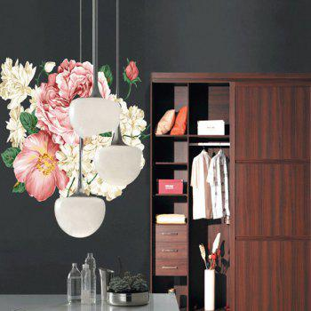 Chic Flowers Pattern Removeable Wall Sticker