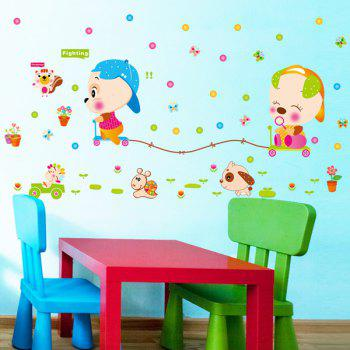 High Quality Colorful Cartoon Animals Pattern Removeable Wall Stickers - COLORMIX