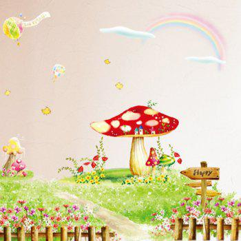 Chic Cartoon Rural Flowers Grass Pattern Removeable Wall Sticker