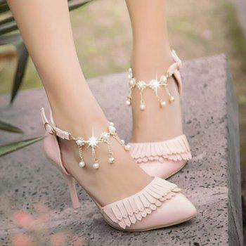 Fashionable Fringe and Two-Piece Design Women's Pumps - 39 39