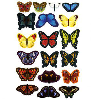 High Quality 3D Colorful Butterfly Shape Removeable Wall Stickers