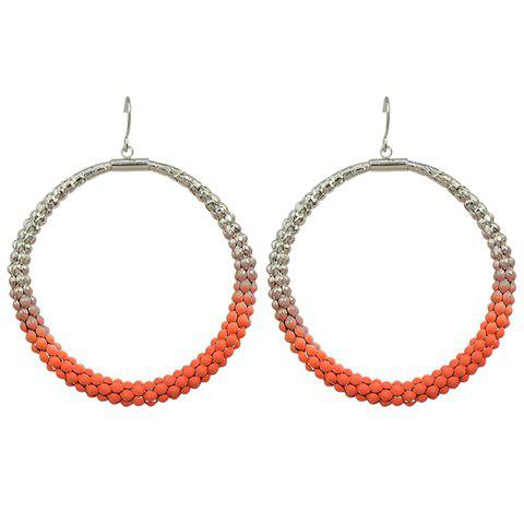 Pair of Trendy Round Hollow Out Earrings For Women