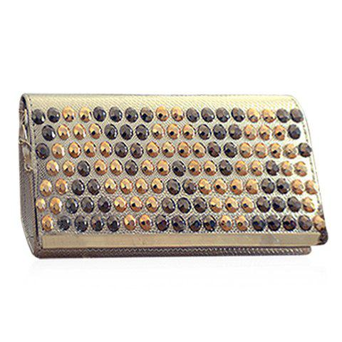 Trendy Rivets and PU Leather Design Women's Shoulder Bag - SILVER