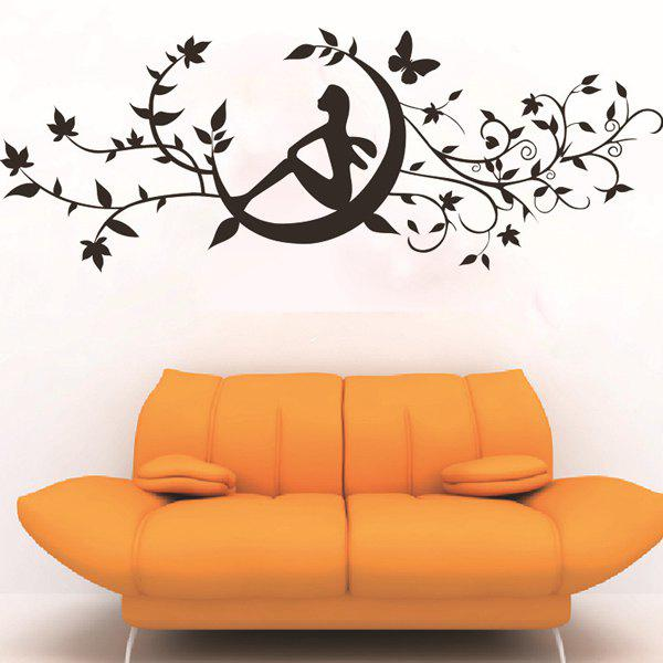 High Quality Solid Color Removeable Wall Stickers - BLACK