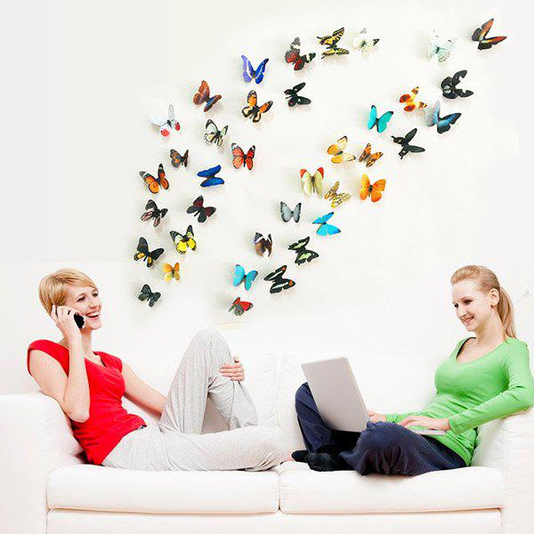 High Quality Colorful 3D Butterfly Shape Removeable Wall Stickers -  COLORMIX