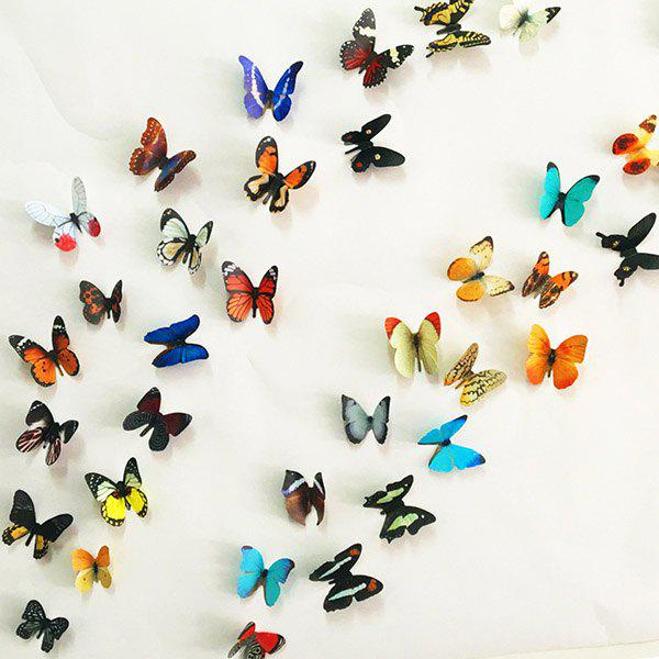 High Quality 3D Colorful Butterflies Shape Removeable Wall Stickers -  COLORMIX