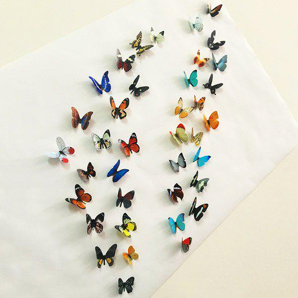 Good Quality 3D Colorful Butterflies Shape Pattern Removeable Wall Stickers