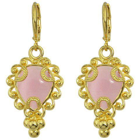 Pair of Trendy Faux Crystal Owl Decorated Earrings For Women - GOLDEN