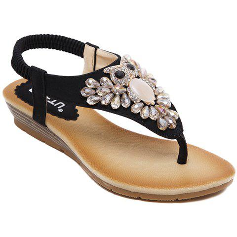 Casual Rhinestones and Flip Flops Design Sandals For Women casual women s sandals with flip flops and tie up design