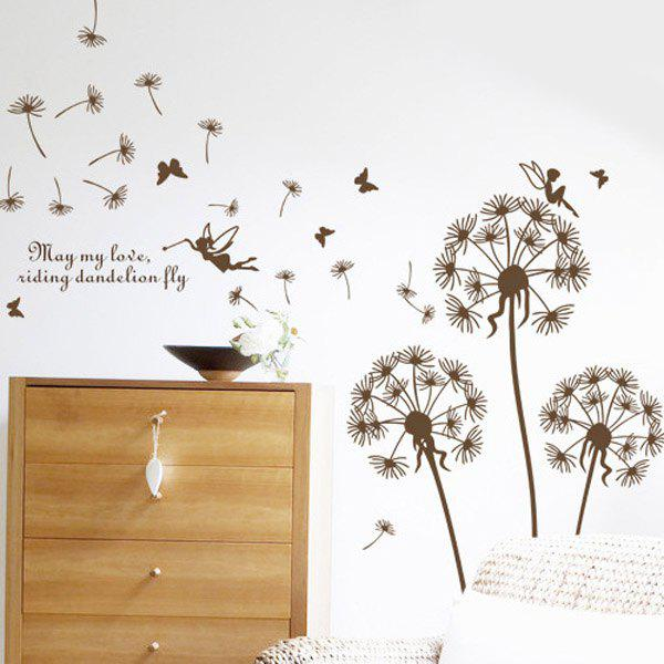 High Quality Floating Dandelion Pattern Removeable Wall Stickers
