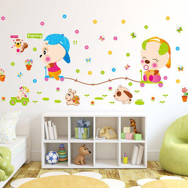 High Quality Colorful Cartoon Animals Pattern Removeable Wall Stickers colorful cartoon forest pattern removeable wall stickers
