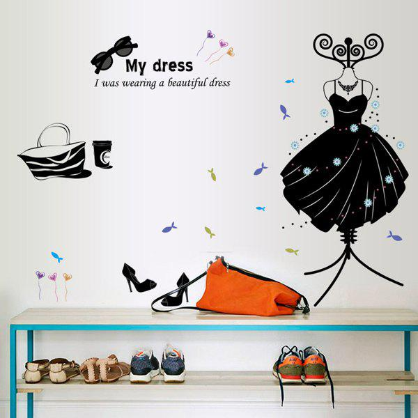 High Quality Solid Color Dress Pattern Removeable Wall Stickers