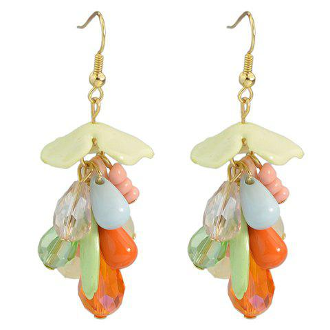 Pair of Trendy Colorful Water Drop Earrings For Women - COLORMIX
