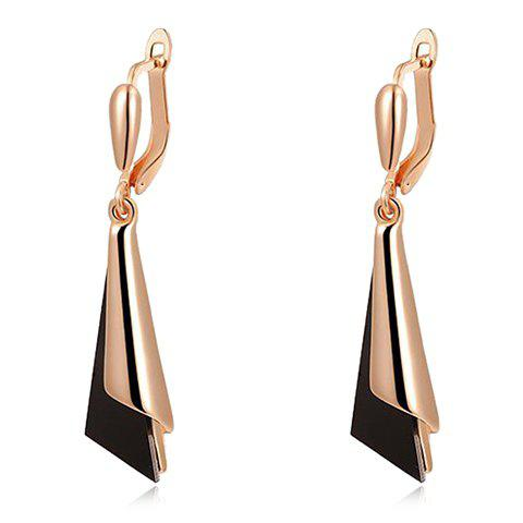 Pair of Chic Alloy Triangle Earrings For Women - GOLDEN