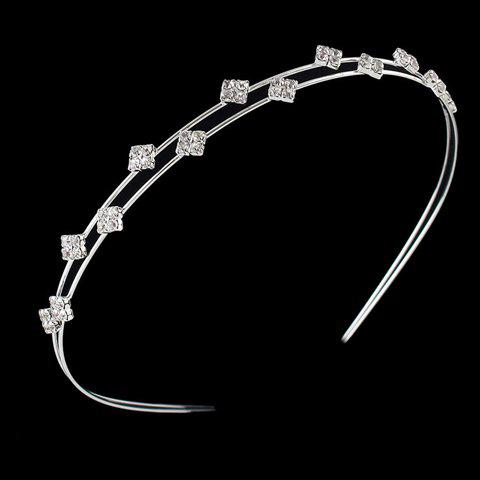 Trendy Rhinestone Rhombus Hairband For WomenAccessories<br><br><br>Color: SILVER
