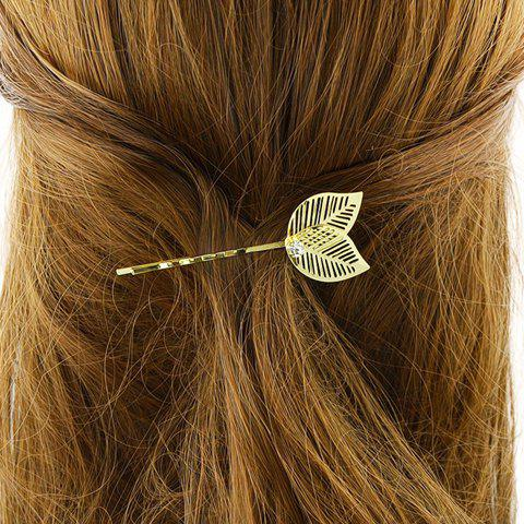 Trendy Hollow Out Leaf Hairpin For Women