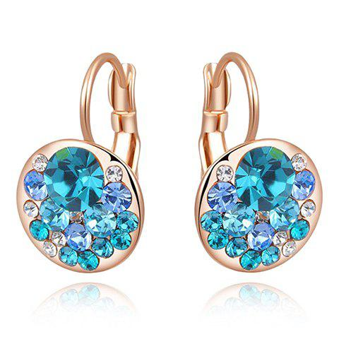 Pair of Chic Rhinestone Faux Crystal Earrings For Women