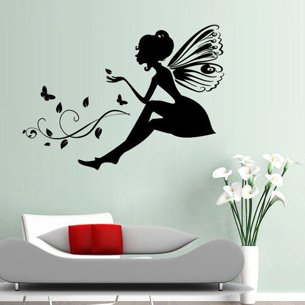Chic Floral Fairy Butterfly Pattern Removeable Wall Sticker