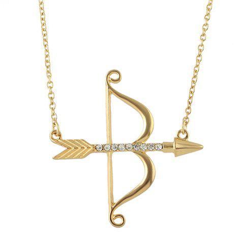 Chic Rhinestone Bow Arrow Shape Necklace For Women