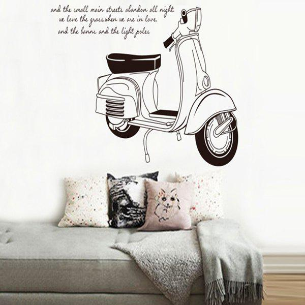 Chic Motorcycle Letters Pattern Removeable Wall Sticker