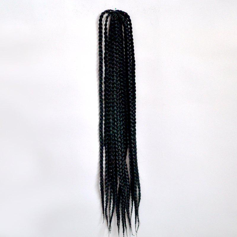 14Pcs/Lot Stunning Long Synthetic Handmade Large Braided Hair Extension For Women - BLACK