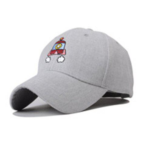 Chic Adjustable Cartoon Rocket Embroidery Baseball Cap For Women - GRAY