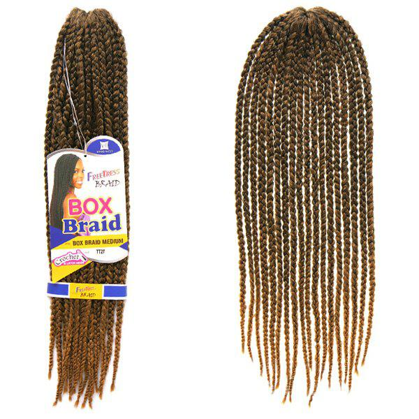 Stunning 18Pcs/Lot Long Brown Ombre Synthetic Handmade Women's Small Braided Hair Extension