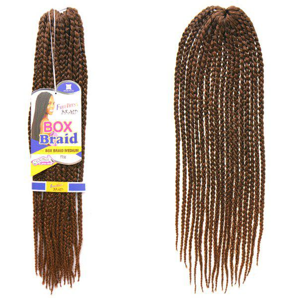 Trendy Dark Brown Ombre Handmade Small Braided Synthetic 18Pcs/Lot Hair Extension For Women - COLORMIX