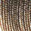 Stylish 14Pcs/Lot Long Synthetic Brown Ombre Handmade Women's Large Braided Hair Extension -  COLORMIX