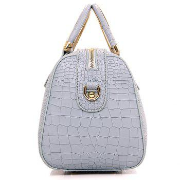 Stylish Solid Colour and Embossing Design Women's Tote Bag - OFF WHITE