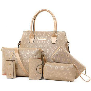 Trendy Metal and Embossing Design Women's Tote Bag