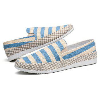 Simple Elastic and Striped Design Men's Casual Shoes - 44 44