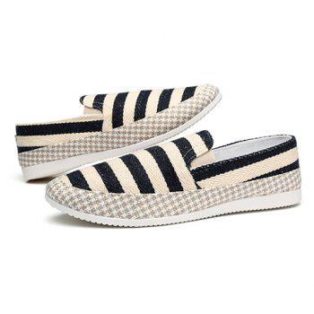 Simple Elastic and Striped Design Men's Casual Shoes - 40 40