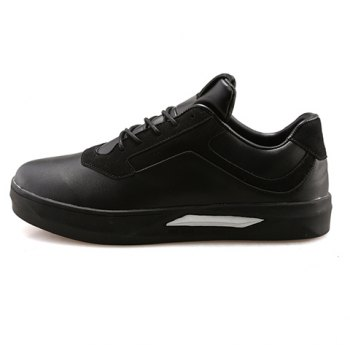 Stylish Splicing and Black Color Design Men's Casual Shoes - 41 41