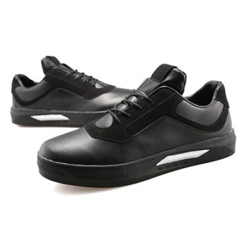 Stylish Splicing and Black Color Design Men's Casual Shoes - 43 43