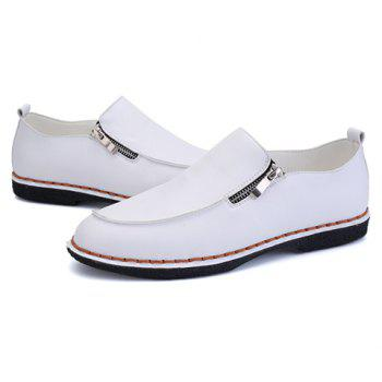 Fashionable Stitching and Zipper Design Men's Casual Shoes - 40 40