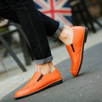 Fashionable Stitching and Zipper Design Men's Casual Shoes - 41 41