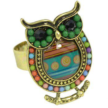 Beads Owl Ring - GREEN ONE-SIZE