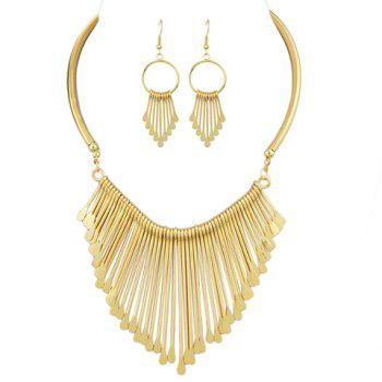 Water Drop Tassel Statement Jewelry Set