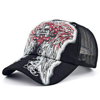 Chic Retro Spearhead and Wings Pattern Rhinestone Women's Baseball Cap