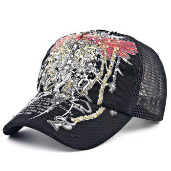 Chic Rhinestone Embellished Retro Pattern Women's Baseball Cap