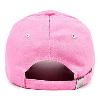 Chic Strawberry and Cherry Embroidery Women's Pink Baseball Cap - PINK