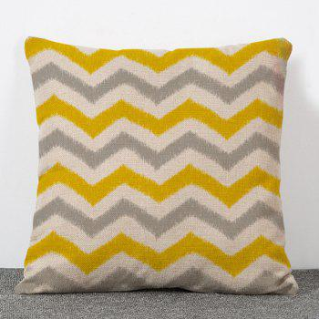 Stylish Break Line Pattern Flax Pillow Case(Without Pillow Inner)