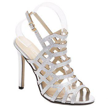 Trendy Talon Stiletto et Sandales creux Out Design Femmes