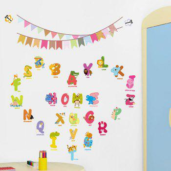 High Quality Colorful Letter Pattern Removeable Early Learning Wall Stickers - COLORMIX