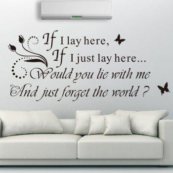High Quality Romantic Sentence Pattern Removeable Wall Sticker