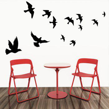High Quality Solid Color Flying Birds Pattern Removeable Wall Sticker